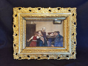 RARE ANTIQUE DENVER COLORADO DEPARTMENT STORE PLASTER FRAMED VICTORIAN PAINTING $200.00
