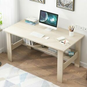 Computer Desk PC Laptop Table Wood Workstation Study Home Office Furniture White
