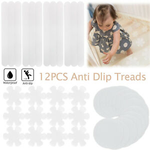 12Pc Non-Slip Safety Grip Traction Stickers Anti Slip Treads for Shower Bathtubs