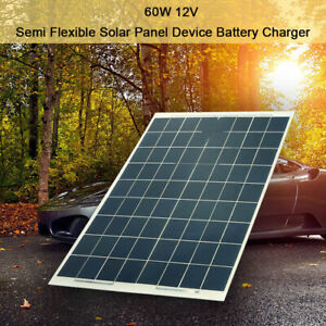 60W Solar Panel Flexible Off Grid Battery Charger 12V for Boat Camping A2Y2