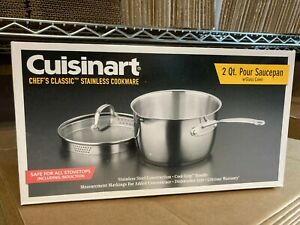 Cuisinart 2qt Chef's Classic Stainless Steel Cookware with Glass Cover 719-18P