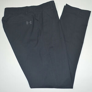Mint UNDER ARMOUR UA Showdown Tapered Stretch Flat Front Navy Golf Pants 32 x 32 $29.99
