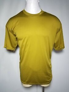 Vintage Nike XL Fit Green Mens Crew Neck Athletic Pullover Short Sleeve Shirt $20.65