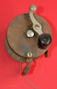 Vintage Pflueger 4 Brothers Pontiac 357 Fishing Reel with Wood brake OLD $60.00
