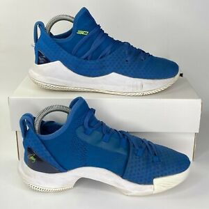 Under Armour Shoes Youth Size 5Y Blue Steph Curry High UA Warriors Basketball $19.95