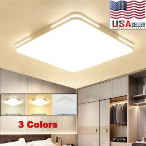 24W Square LED Ceiling Down Light Panel Flush Mount Kitchen Bedroom Fixture Lamp