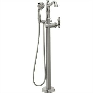 Delta Stainless Steel Finish Floor Tub Filler Faucet with Sprayer   $1,800.57