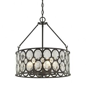 Nairn Street - Five Light Chandelier  Oil Rubbed Bronze Finish With Clear Soda