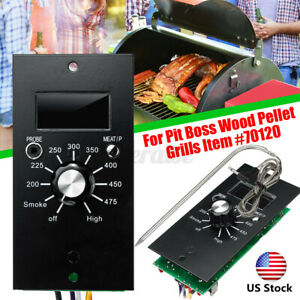 US Digital Thermostat Control Board + Meat Probe For Pit Boss Wood Pellet Grills