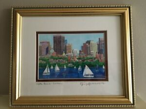 Framed Print of Boston – Iconic view of State House and Charles River