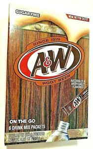 Aamp;W Root Beer Drink Mix Singles to Go Sugar Free 1 box 6 sticks