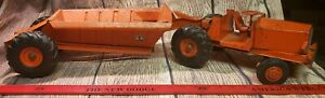 Vintage 1950's Doepke Pressed Steel 2009 Euclid Bottom Dump Earth Hauler