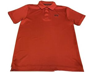 Under Armour Shirt Men's Small Polo Red Heatgear Golf Loose Fit Short Sleeve $11.00