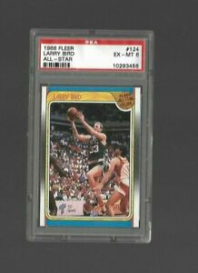 1988 Fleer Basketball #124 Larry Bird ALL STAR HOF **CELTICS** PSA 6