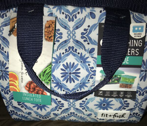 NEW....Fit & Fresh Insulated Lunch Bag with reuseable chiller pack! For women.