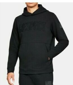 Under Armour Project Rock Respect Hoodie Size Small Black NWT $39.99