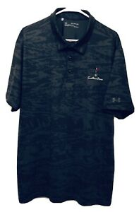 Under Armour Black Camo Print Polo Shirt Men's Size 2XL XXL Southern Dunes Logo $19.95