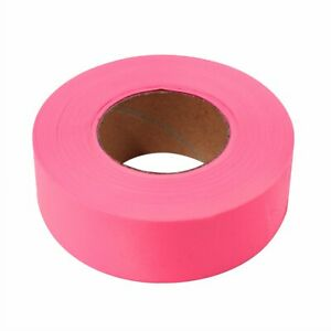 ASR Outdoor Line Posting Hunting Boundary Hiking Trail Tape Marker Ribbon - Pink