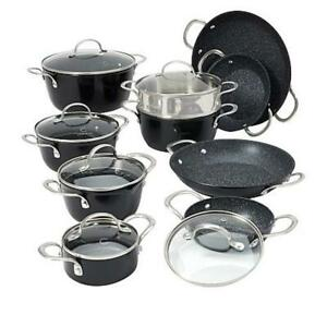 Curtis Stone Dura-Pan Nonstick 16-piece Nesting Cookware Set