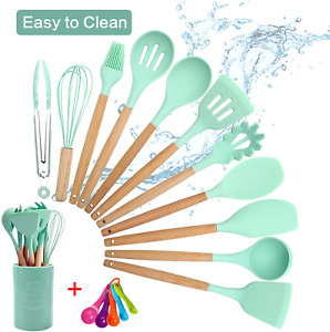 Kitchen Utensils Set Silicone Cooking Pioneer Utensil 16PCS with Holder Measurin