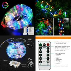 Aityvert 39Ft/12M 120 Led Rgb Rope Lights, Battery Operated Rope Lights 8 Modes