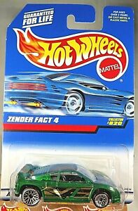 1997 Vintage Hot Wheels Collector #820 ZENDER FACT 4 Green w Chrome Lace Spokes $8.00