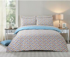 Doona Duvet Quilt Cover Queen Size With Pillowcases Cotton Blend