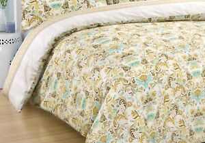 Cotton Sateen Quilt Doona Duvet Cover Queen Size With Pillowcases Set