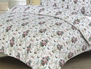 Floral Doona Duvet Quilt Cover Double And Queen Size With Pillowcases