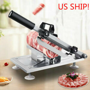 Manual Adjustable Frozen Food Meat Slicer Beef Mutton Sheet Roll Cleavers Cutter