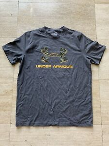 Under Armour Loose Heat Gear Gray Real Tree Camo M Medium T Shirt Men's $6.00