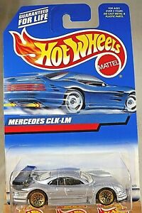 1999 Vintage Hot Wheels Collector #926 MERCEDES CLK LM Gray w Gold Lace Spokes $10.20