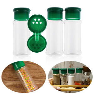 4PCS Plastic Salt Can Pepper Condiment Bottle BBQ Seasoning Jar Cruet