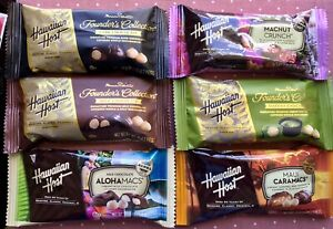 Hawaiian Host Chocolate Covered Macadamia Nuts Variety Pack of 6