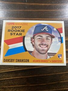 2017 Topps Archives Magazine Dansby Swanson Rookie Star RC Card #RS 4