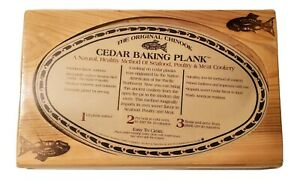 Vtg The Original Chinook Cedar Baking Wooden Plank Seafood Poultry Meat Fish New