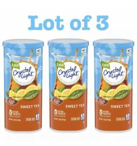 3 Pack Crystal Light Sweet Tea Drink Mix 1.56 oz Exp:06 2022 $16.95