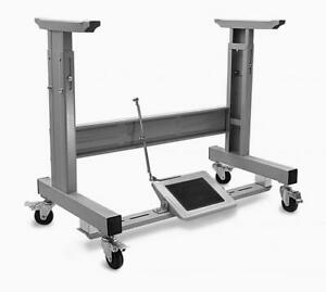 Adjustable T Leg W Locking Caster Wheels Table Frame Assembly For Sewing Machine $199.99