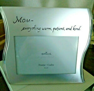 Hallmark Mom photo frame brushed metal 4 x 6. New! Great gift for mom!