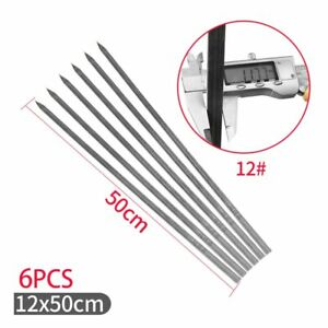 Long Large Stainless Steel Brazilian-Style BBQ Barbecue Skewers Wide Blade Sets