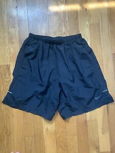 Nike Sport Running Athletic Shorts Black Size Small 5 Inch Lined $10.50