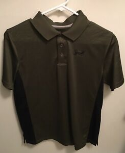 Under Armour Boys' Golf Polo Button Down Short Sleeve Size YXL Army Green $12.99