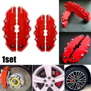 4Pcs 3D Car Universal Disc Brake Caliper Covers Front & Rear Kit Car Accessories