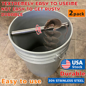 2PCAK Mice Rats Mouse killer Roll Trap log Grasp Bucket Rolling Roller USA