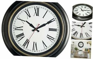 Bernhard Products Large Wall Clock 18 Inch Quality Quartz Silent Non Ticking, Ba