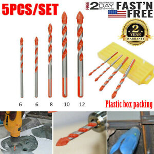 5x Multifunctional Ultimate Drill Bit Ceramic Glass Punching Hole Working 6-12mm