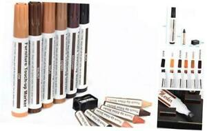 Furniture Touch Up Marker 12PCS Repair Kit Cover Wood Scratch- Markers and Wax S