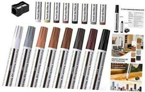 Furniture Markers Touch Up,Wood Filler Floor Scratch Repair Kits,Set of 17-Marke