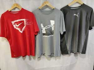 Mens Nike Under Armour and Puma T shirt LOT XL $29.99