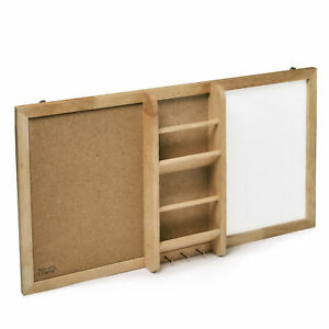 Prosumer's Choice Entryway Corkboard and White Board with Key and Mail Organizer